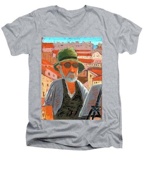 Antibes Self Men's V-Neck T-Shirt