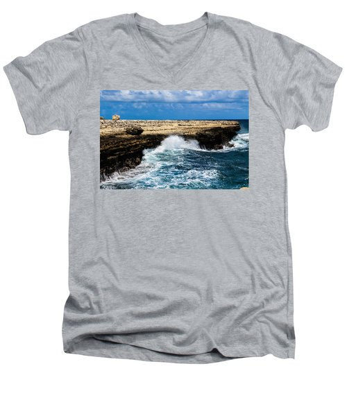 Antigua Shoreline Men's V-Neck T-Shirt