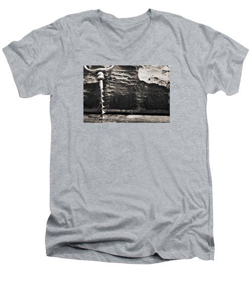 Men's V-Neck T-Shirt featuring the photograph Antique Corkscrew. by Andrey  Godyaykin