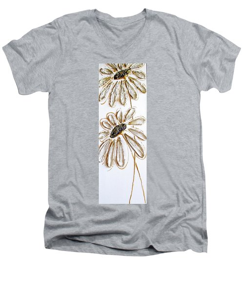 Antique Daisies Men's V-Neck T-Shirt