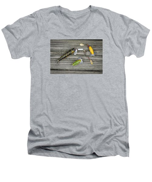 Antique Fishing Lures Men's V-Neck T-Shirt