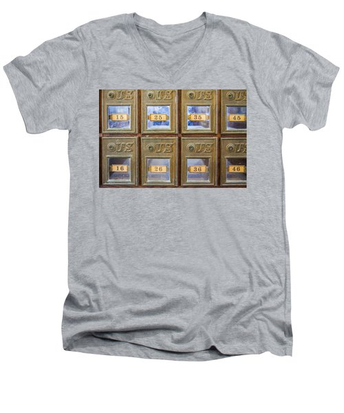 Antique Mailbox Color Men's V-Neck T-Shirt
