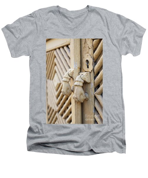 Antique Mediterranean Door-knocker Men's V-Neck T-Shirt