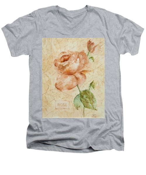 Antique Rose Men's V-Neck T-Shirt