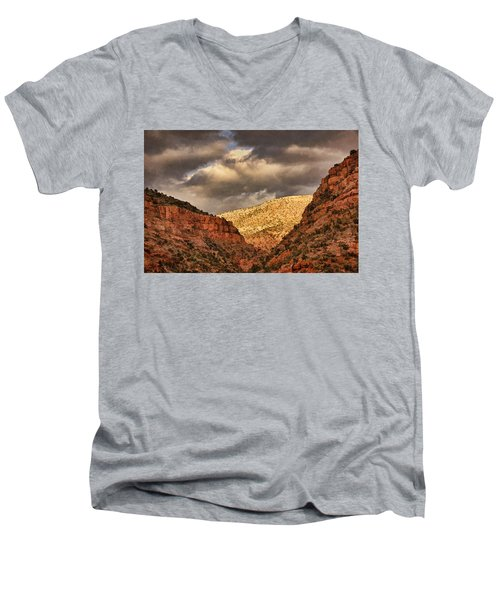 Antique Train Ride Txt Men's V-Neck T-Shirt