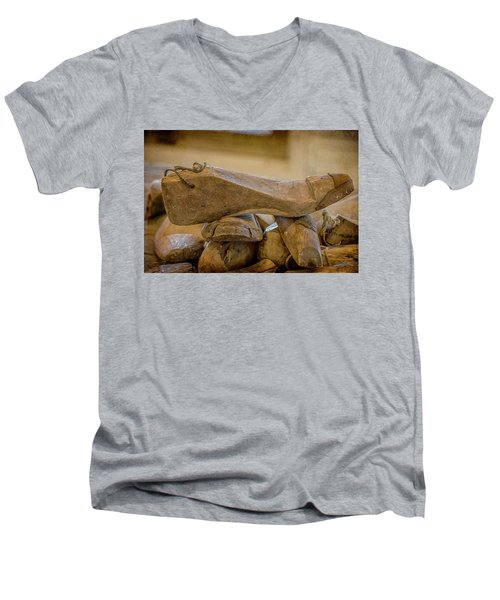 Antique Wooden Shoe Forms - 2 Men's V-Neck T-Shirt