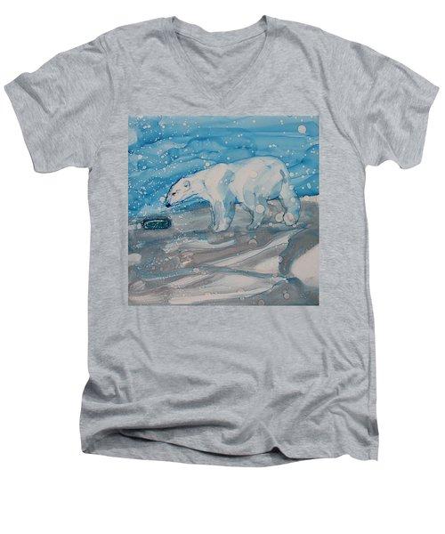 Anybody Home? Men's V-Neck T-Shirt by Ruth Kamenev