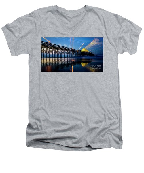 Apache Pier Men's V-Neck T-Shirt by David Smith