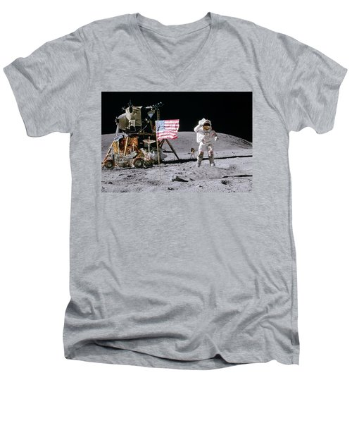Apollo 16 Men's V-Neck T-Shirt