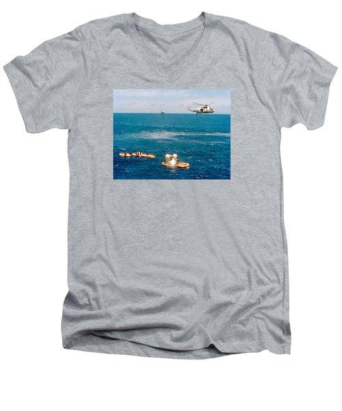 Apollo Command Module Splashdown Men's V-Neck T-Shirt