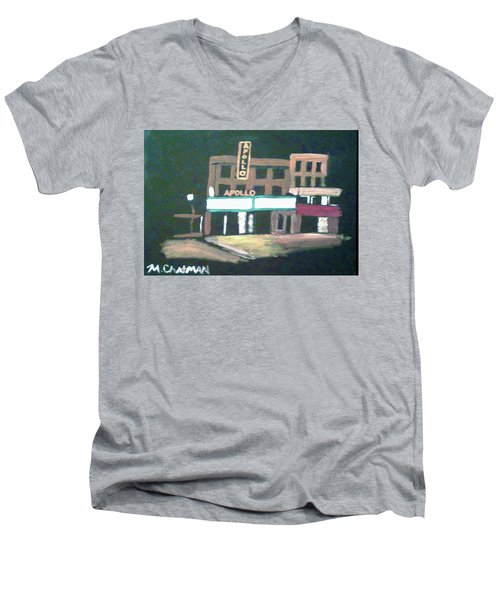 Apollo Theater New York City Men's V-Neck T-Shirt