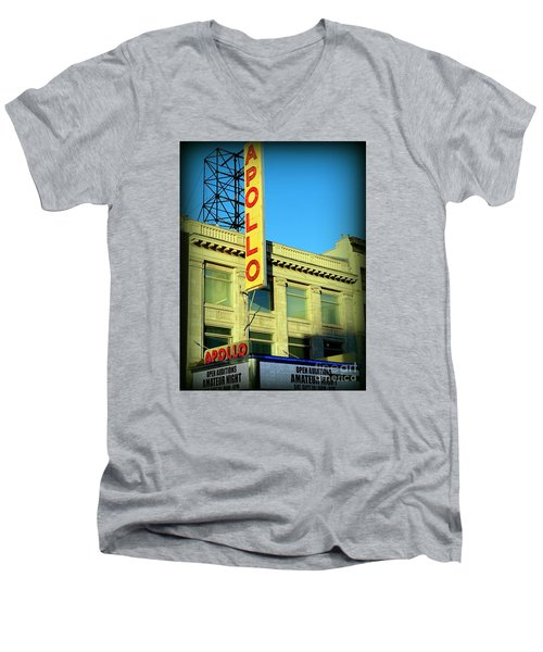 Apollo Vignette Men's V-Neck T-Shirt by Ed Weidman
