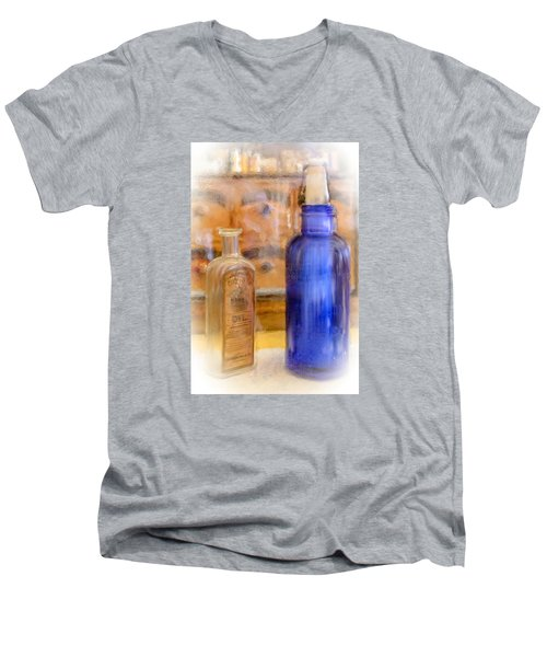 Men's V-Neck T-Shirt featuring the photograph Apothecary by Mary Timman