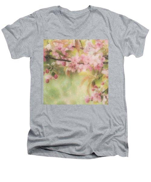 Apple Blossom Frost Men's V-Neck T-Shirt