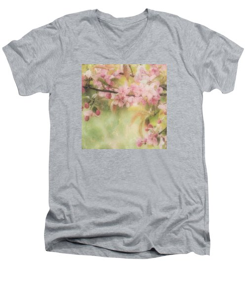 Apple Blossom Frost Men's V-Neck T-Shirt