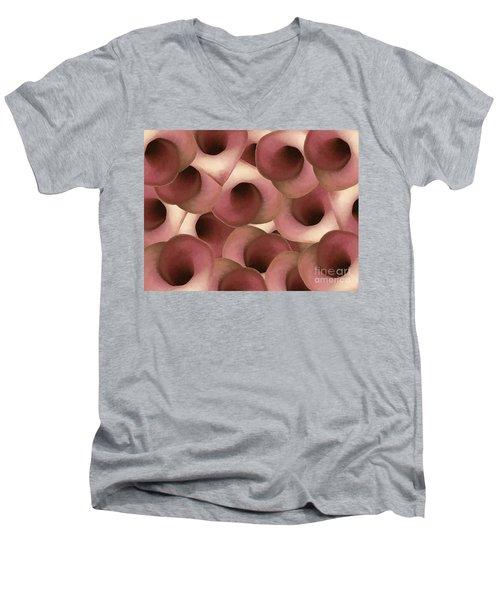 Apple Blossom Petals Men's V-Neck T-Shirt