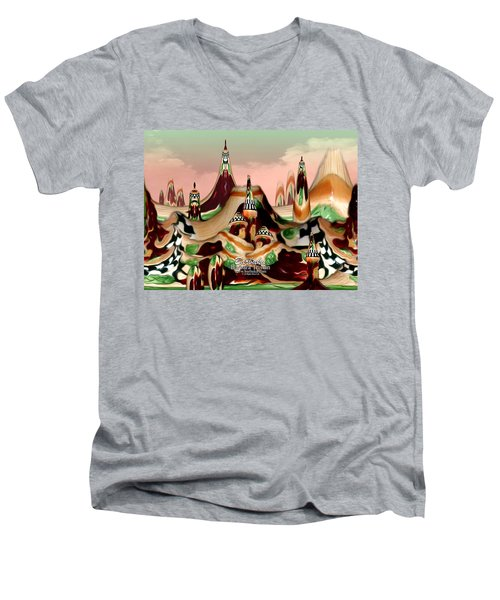 Men's V-Neck T-Shirt featuring the photograph Apple Land Countryside by Barbara Tristan
