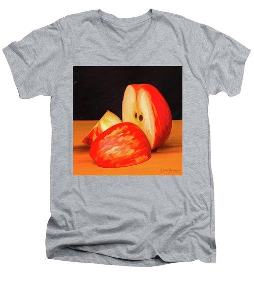 Apple Study 01 Men's V-Neck T-Shirt by Wally Hampton
