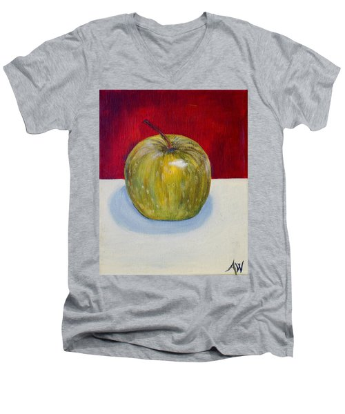 Apple Study Men's V-Neck T-Shirt