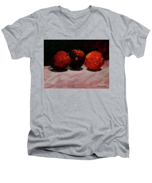 Apples Men's V-Neck T-Shirt