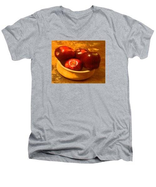 Apples In A Bowl Men's V-Neck T-Shirt
