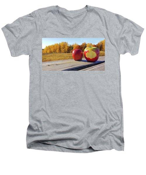 Apples On A Hayride Men's V-Neck T-Shirt