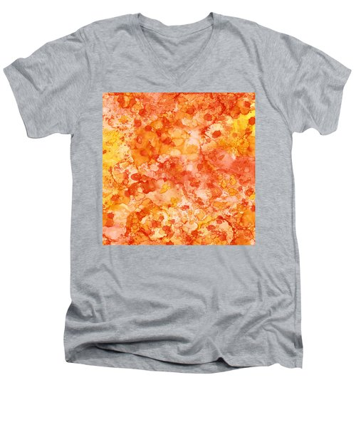 Apricot Delight  Men's V-Neck T-Shirt by Patricia Lintner