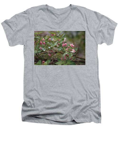 April Showers 6 Men's V-Neck T-Shirt by Antonio Romero