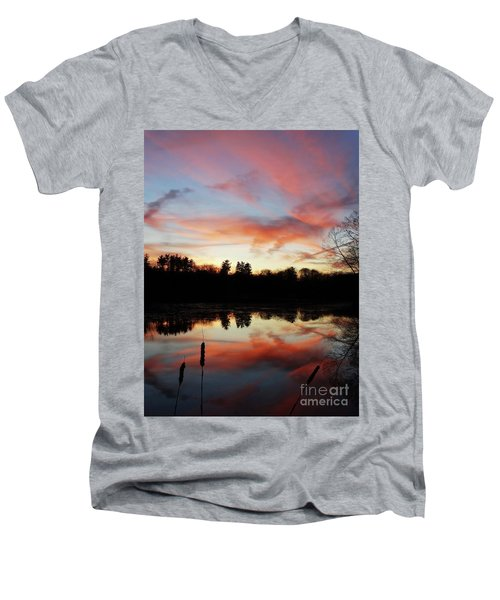 April Sky 23 Men's V-Neck T-Shirt