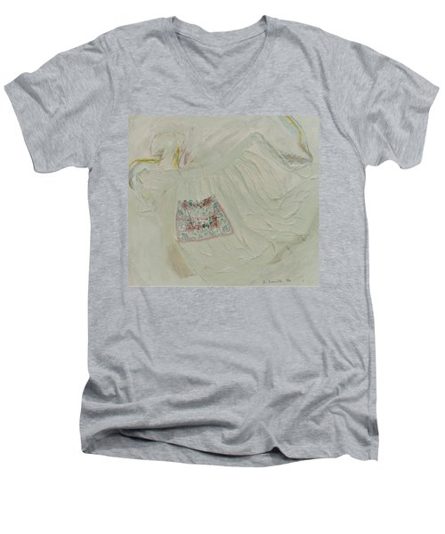 Apron On Canvas - Mixed Media Men's V-Neck T-Shirt