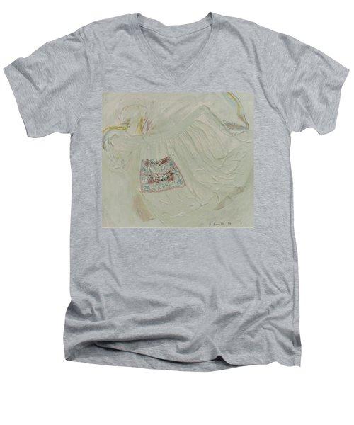 Apron On Canvas - Mixed Media Men's V-Neck T-Shirt