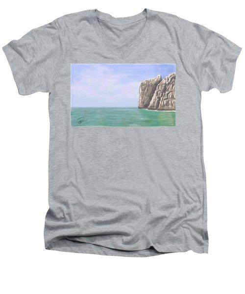 Aqua Sea Men's V-Neck T-Shirt