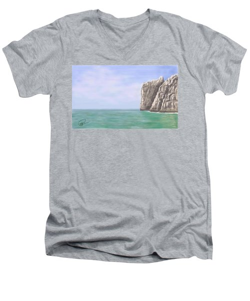 Aqua Sea Men's V-Neck T-Shirt