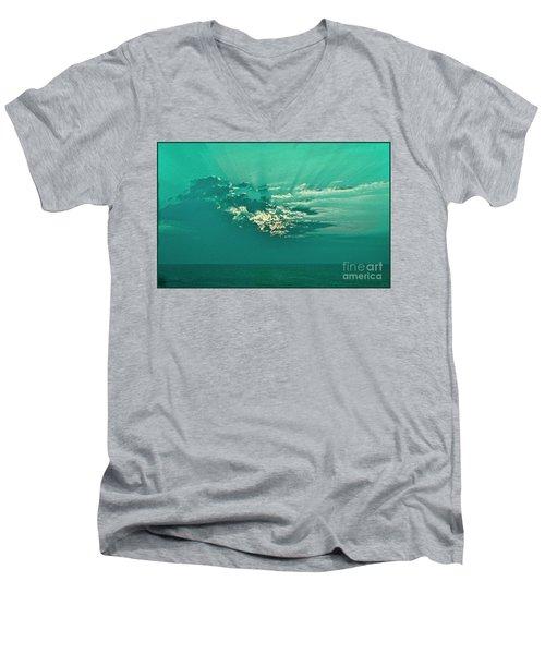 Aqua Sunset Men's V-Neck T-Shirt
