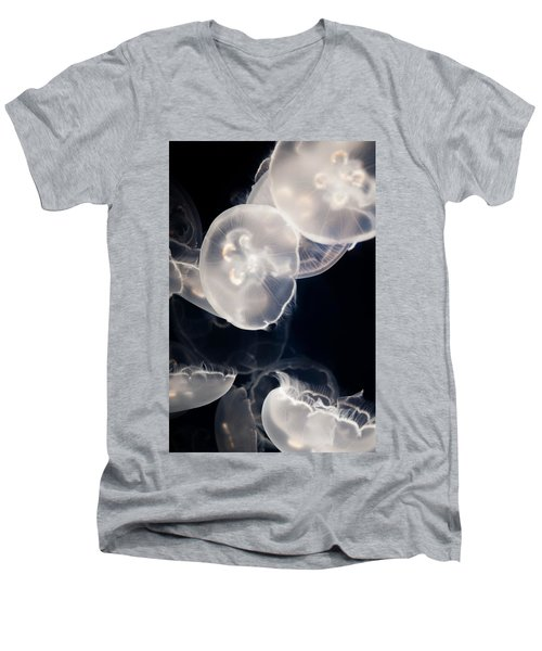 Aquarium Of The Pacific Jumping Jellies Men's V-Neck T-Shirt