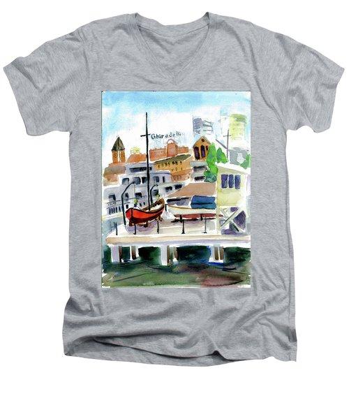 Aquatic Park1 Men's V-Neck T-Shirt by Tom Simmons