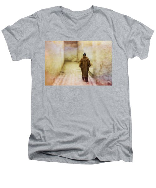 Arab Man Walking - Morocco 2 Men's V-Neck T-Shirt