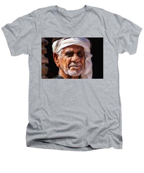 Arabian Old Man Men's V-Neck T-Shirt