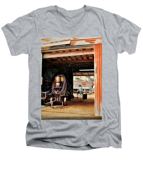Aransas Pass Boatyard Men's V-Neck T-Shirt