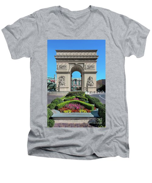 Arc De Triomphe Paris Casino Las Vegas Men's V-Neck T-Shirt