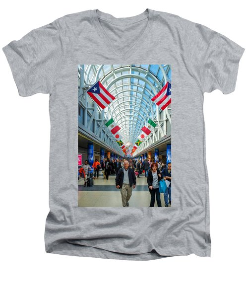 Arcade Of Flags Men's V-Neck T-Shirt