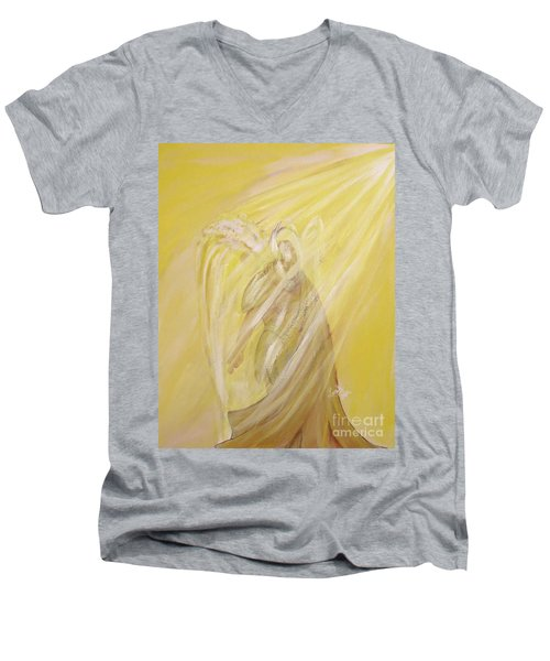 Archangel Uriel - Light Of God Men's V-Neck T-Shirt