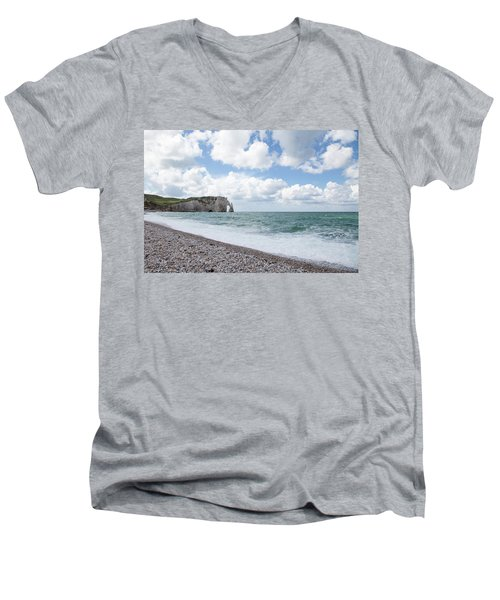 Arch At Etretat Beach, Normandie Men's V-Neck T-Shirt