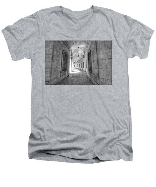 Arched Men's V-Neck T-Shirt