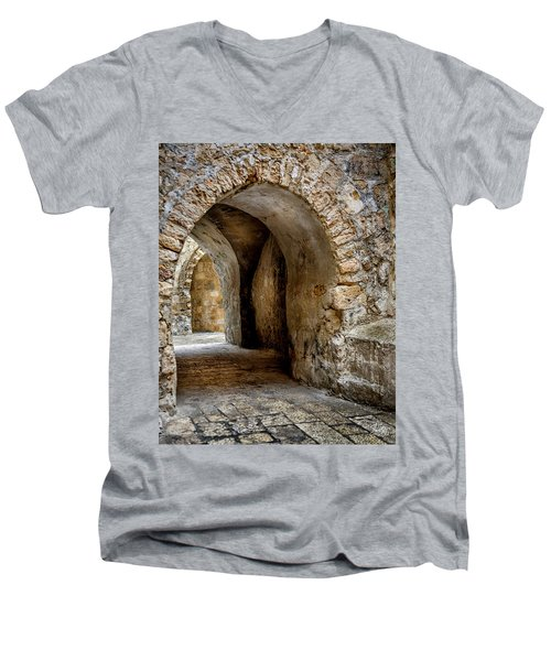 Arched Walkway Men's V-Neck T-Shirt