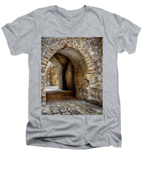 Arched Walkway Men's V-Neck T-Shirt