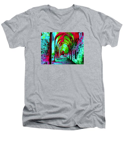 Arches Surreal - Florence Italy Men's V-Neck T-Shirt by Merton Allen