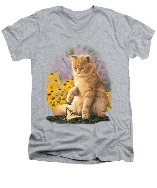 Archibald And Friend Men's V-Neck T-Shirt