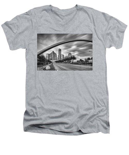 Architectural Photograph Of Post Oak Boulevard At Uptown Houston - Texas Men's V-Neck T-Shirt