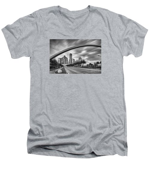 Architectural Photograph Of Post Oak Boulevard At Uptown Houston - Texas Men's V-Neck T-Shirt